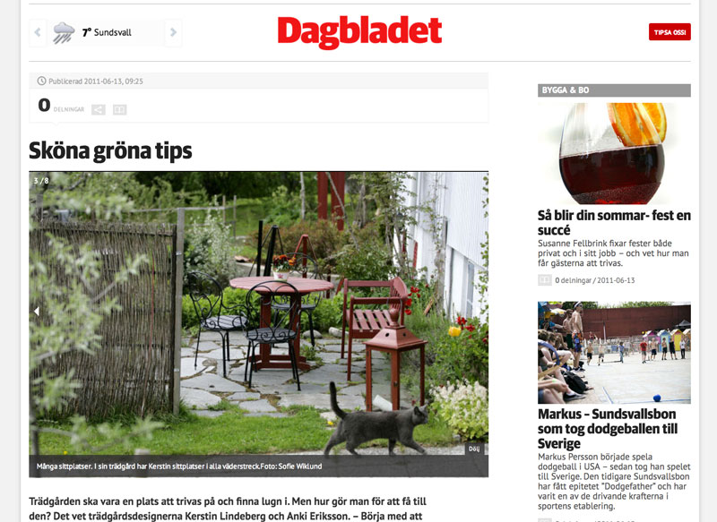 Artikel i Dagbladet